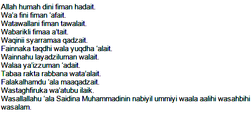 Bacaan Doa Qunut Bahasa Arab, Latin, & Terjemahan|