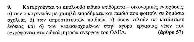 Τα τέσσερα επιδόματα που καταργούνται με τα νέα μέτρα του 4ου Μνημονίου των ΣΥΡΙΖΑ-ΑΝΕΛ.