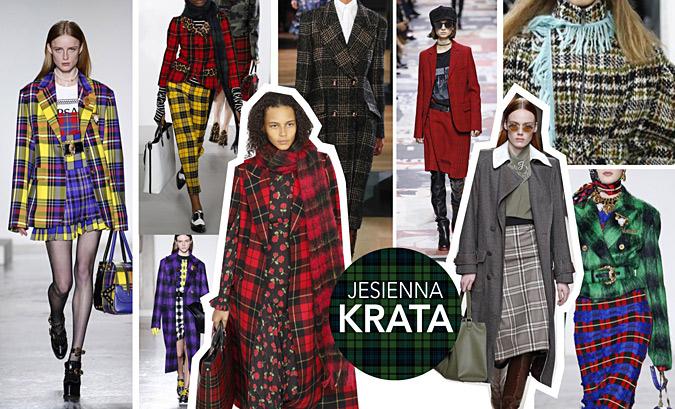 Jaka modna krata na jesien 2018
