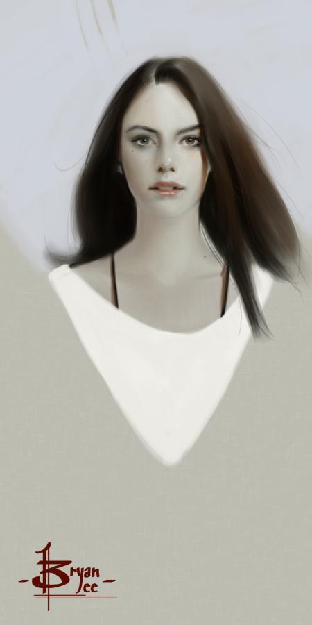 Pale Beauty Portrait Of Blond Woman Stock Image: BTANK: Pale Beauty