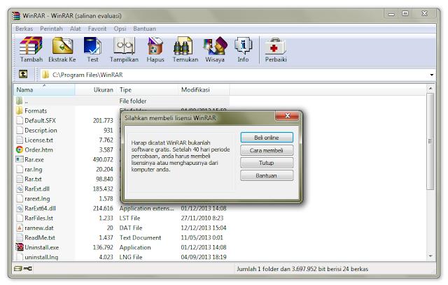 Cara Aktivasi WinRar 32-bit dan 64-bit [All Version]