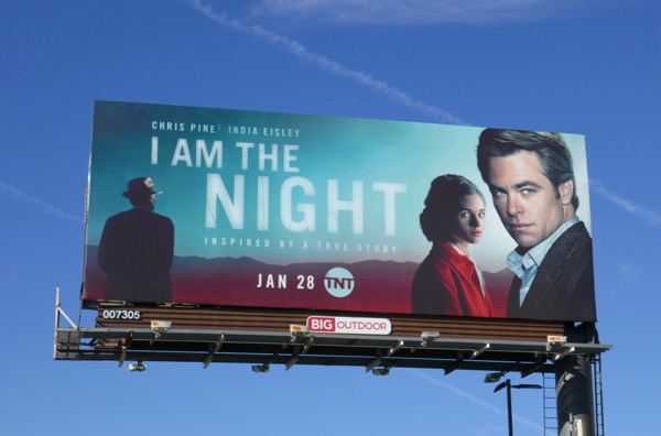 I Am the Night series premiere billboard