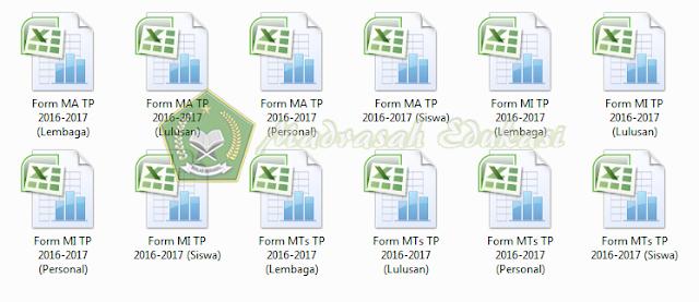 Download Form Excel EMIS Terbaru  Semseter Genap 2016/2017