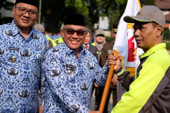 Walikota Depok Lepas Kontingen Porda Jabar ke-XIII