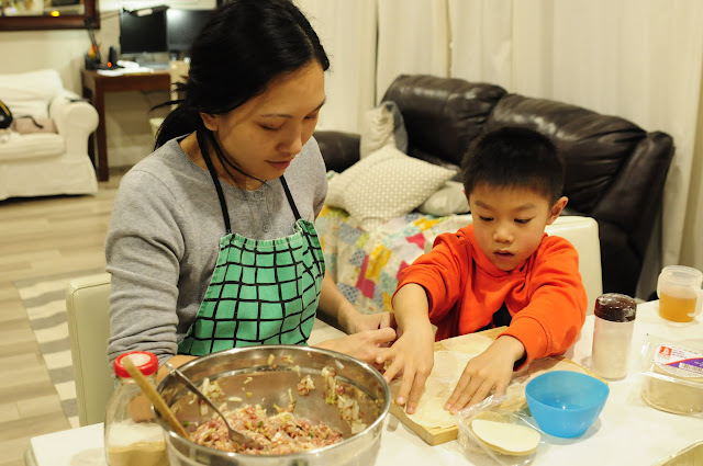 Make dumplings with kids