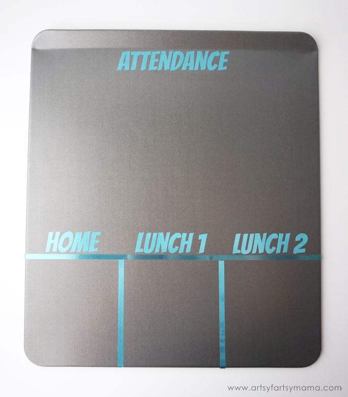 DIY Magnetic Classroom Attendance & Lunch Count Board