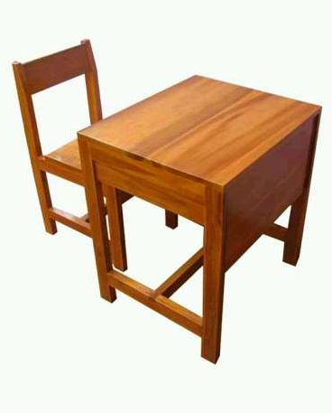 Desain set kursi sekolah kayu jati