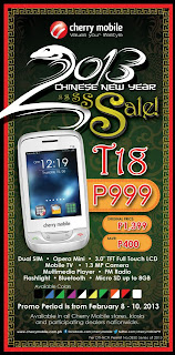 Cherry Mobile T18 TV Price on Chinese New Year Sale 2013