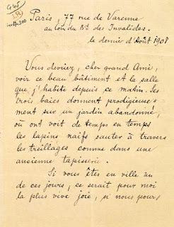 Carta a Rodin