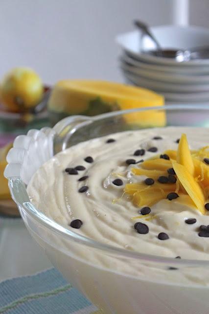 Mango-Sahne-Quark, schnelles Dessert