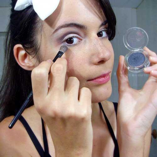 Maquillaje de ojos de noche monika sanchez