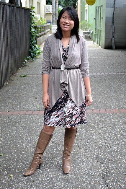 sacramento office fashion blogger angeline evans the new professional style co dress banana republic factory sweater nine west boots