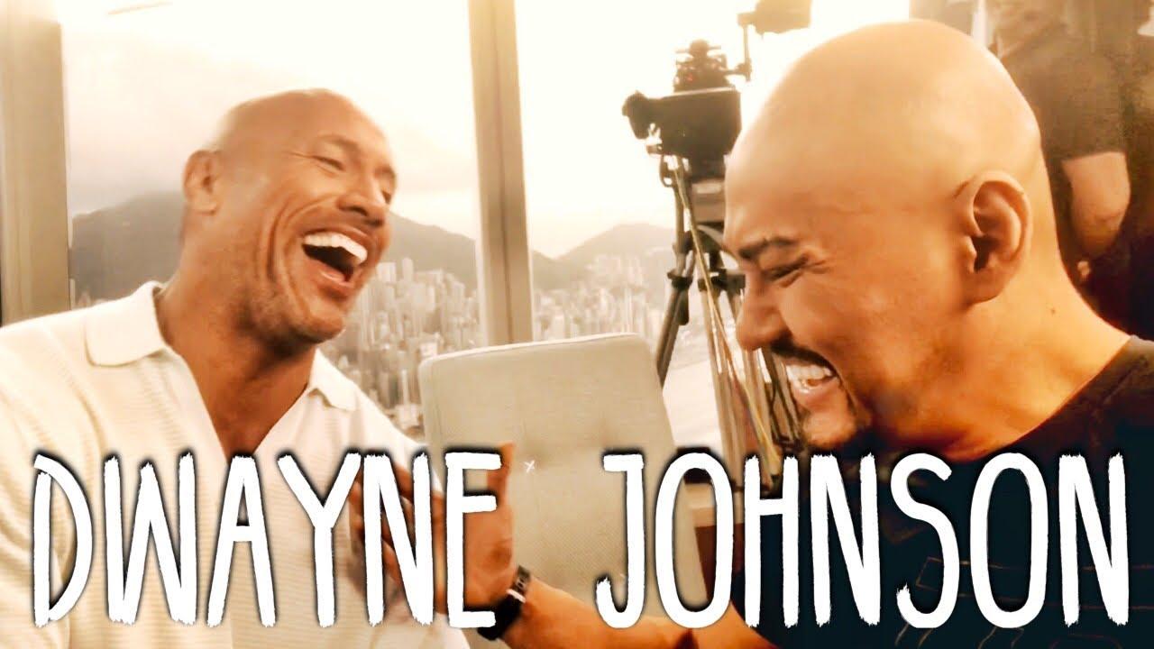 Interview Deddy Corbuzier Dengan Dwayne THE ROCK Johnson Untuk Hongkong Skyscraper