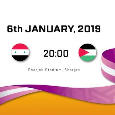 Live Streaming Syria vs Palestine AFC 2019 6.1.2019