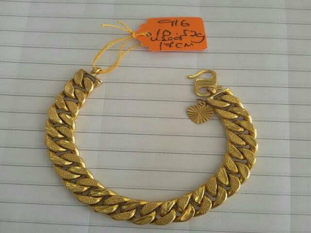 Gambar Gelang emas rantai terbaru