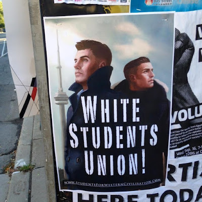 White Students Union                     Flyer on Toronto university campuses