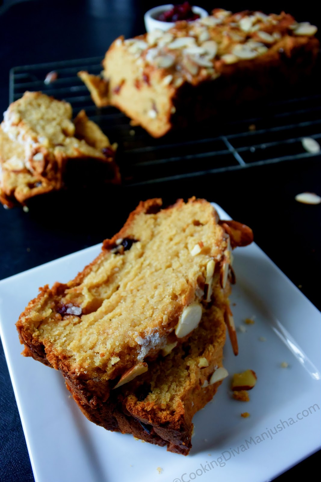 Quick Healthy Bread With Almonds And Cranberries