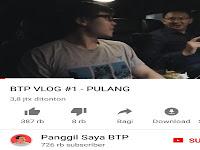Channel Youtube Ahok Baru Sehari Dibuat Sudah Mencapai 600rb Subscriber