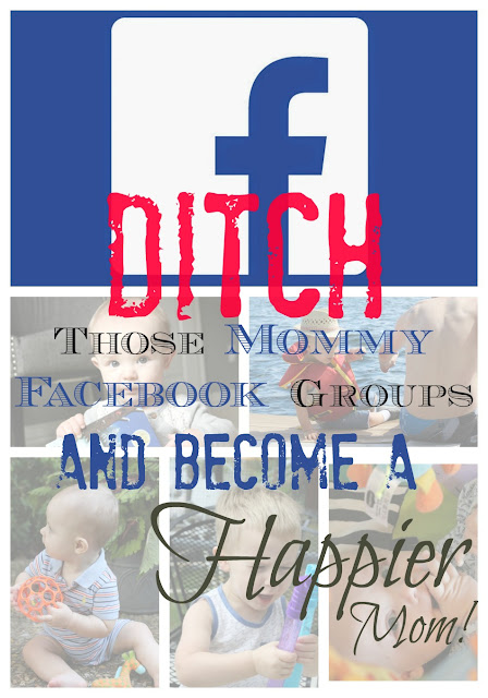Mommy Facebook groups have become a toxic place to be a mom - ditch yours and watch yourself become happier!