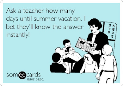 Ask a teacher how many days until summer vacation. I bet they'll know the answer instantly! - teacher reading a story to her class