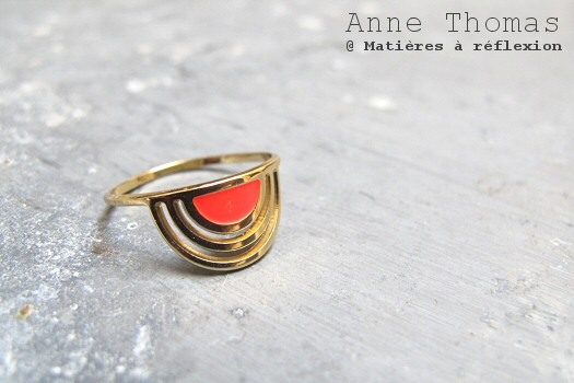 Anne Thomas Bague Sunset Corail