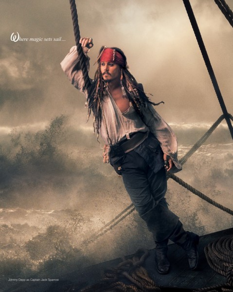 O ator Johnny Depp como Jack Sparrow (surpresa!!)