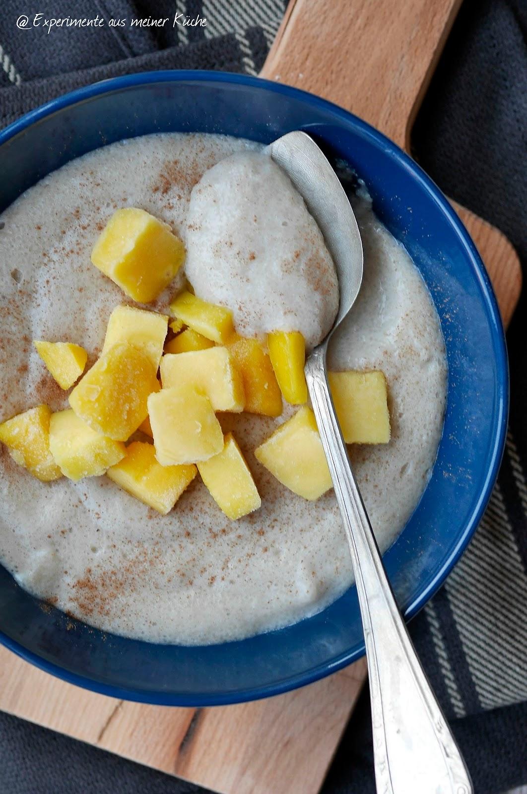 Experimente aus meiner Küche: Grießbrei mit Bananenmilch