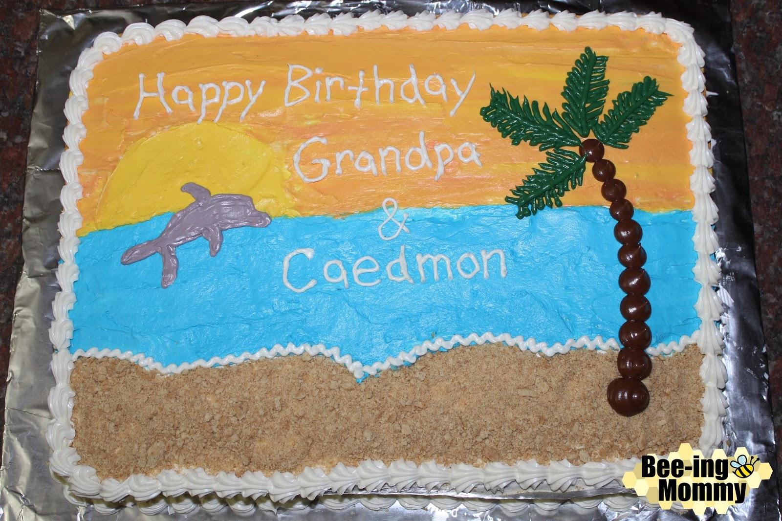 Fine Ocean Beach Cake Tutorial Birthday Cards Printable Trancafe Filternl