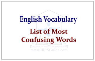 English Vocabulary- List of Most Confusing Words