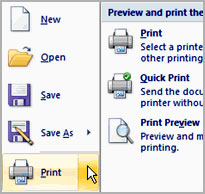 Image for Printing Word Document in Word 2007
