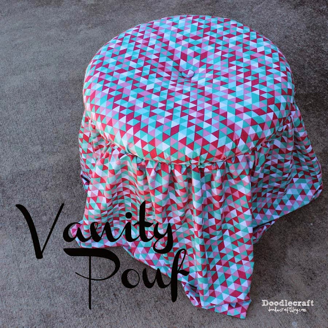 http://www.doodlecraftblog.com/2014/11/no-sew-upholstery-vanity-pouf.html