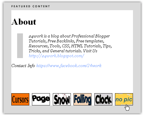 Awesome Automatic Content Slider for Blogger using jQuery