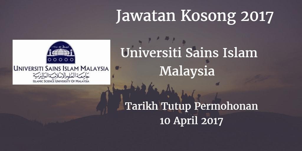 Jawatan Kosong USIM 10 April 2017