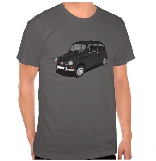 Black Fiat 600 t-shirts