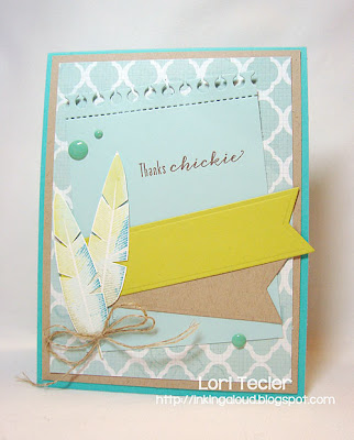 Thanks Chickie-designed by Lori Tecler-Inking Aloud-stamps from Waltzingmouse Stamps