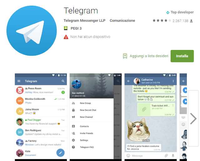Telegram screen-shot