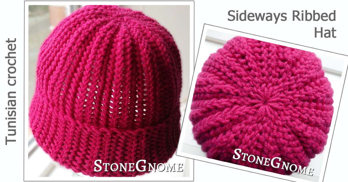 Pattern Sideways Ribbed Hat Stonegnome