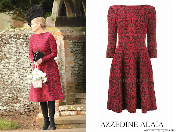 Countess Sophie wore Azzedine Alaïa Wool blend knit dress