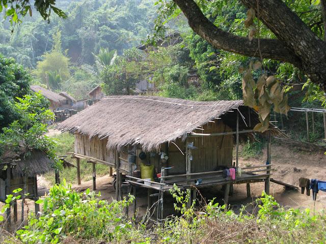 Petit village de Thailande