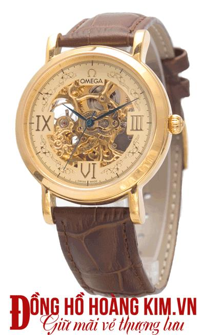 đồng hồ nam dây da omega giảm giá
