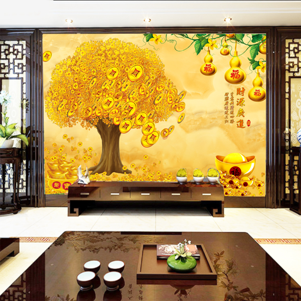 Tranh Cây Lộc vàng in tranh