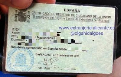 certificado de registro comunitario