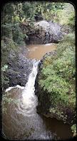 Waterfall on Pipiwai Stream Maui Hawaii