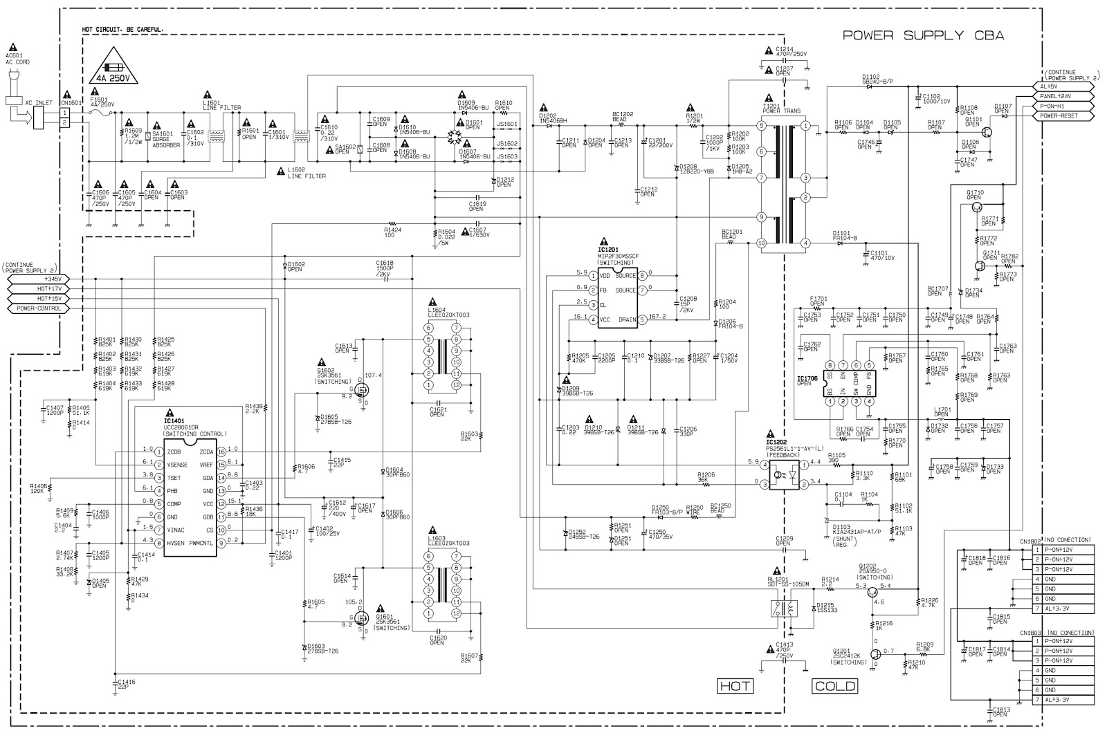 Philips and Haier LCD TV – SMPS Schematic (Circuit Diagram
