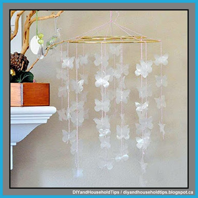 Pottery Barn Inspired Butterfly Mobile