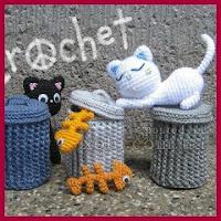 Gatos callejeros amigurumis