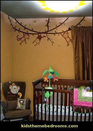 Jungle theme nursery - jungle theme nursery decals - Jungle wall stickers & Decorating theme bedrooms - Maries Manor: jungle baby bedrooms ...