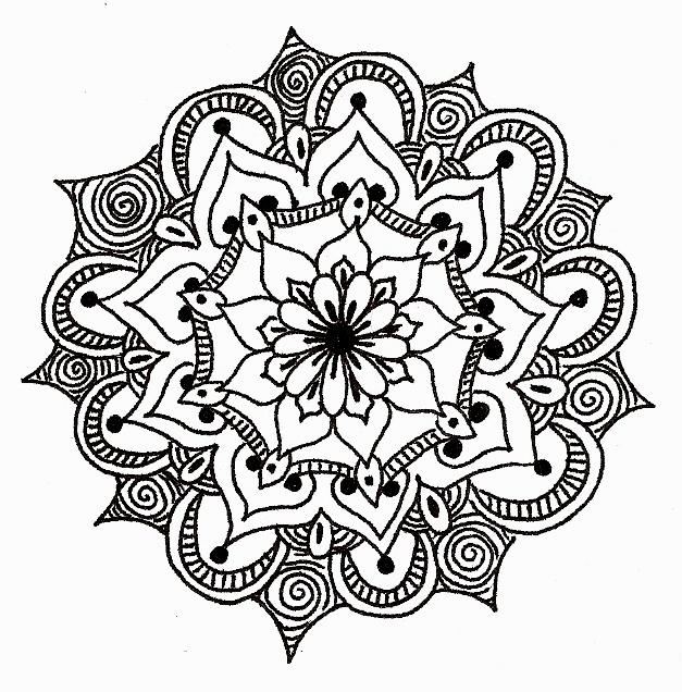 Mandala para desenhar no quarto decorando sem gastar