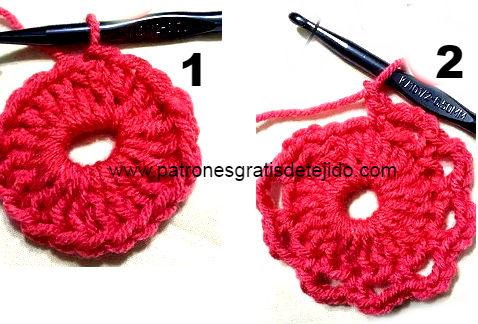 como se teje el poncho redondo con cuello al crochet - inicio