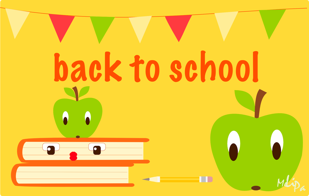 Back To School Iii Free Printable Back To School Card And Free Scrap Kawaii Apple S